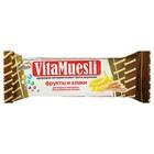 "Батончик злаковый ""VitaMuesli"" с бананом, 25 гр., шоу бокс 30 шт."