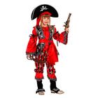 """Карнавальный костюм """"Атаманша"""", бархат и парча, р-р 32, рост 122 см"""