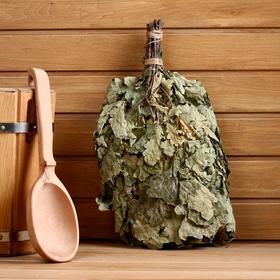 Веник для бани дубовый в упаковке