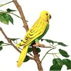 """Мягкая игрушка """"Волнистый попугайчик"""" зеленый, 15 см"""
