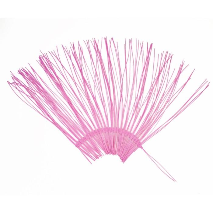 "Каркас ""Веер"" ротанг, 45 х 88 см, ярко-розовый"