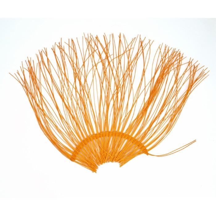 "Каркас ""Веер"" ротанг, 45 х 88 см, ярко-оранжевый"
