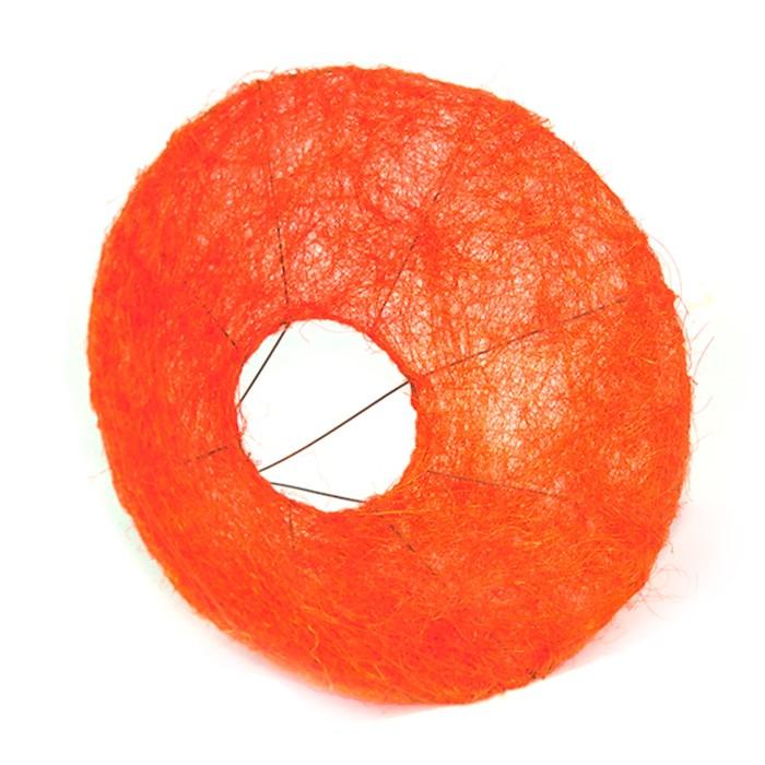 Каркас для букета, сизаль с ровным краем 30 см, оранжевый