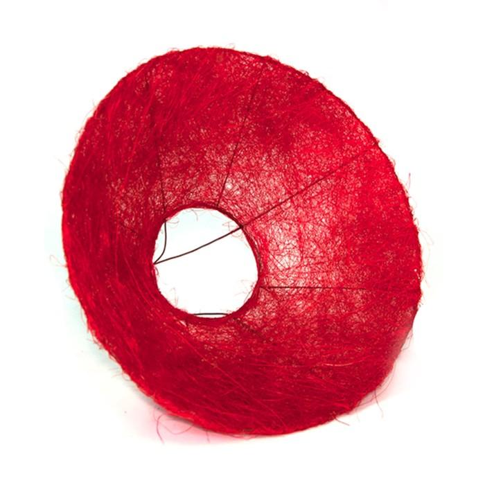 Каркас для букета, сизаль с ровным краем 30 см, красный