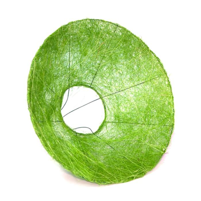 Каркас для букета, сизаль с ровным краем 30 см, зелёный