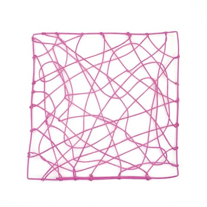 "Каркас ""Рамка"" ротанг, 30 х 30 см, ярко-розовый"