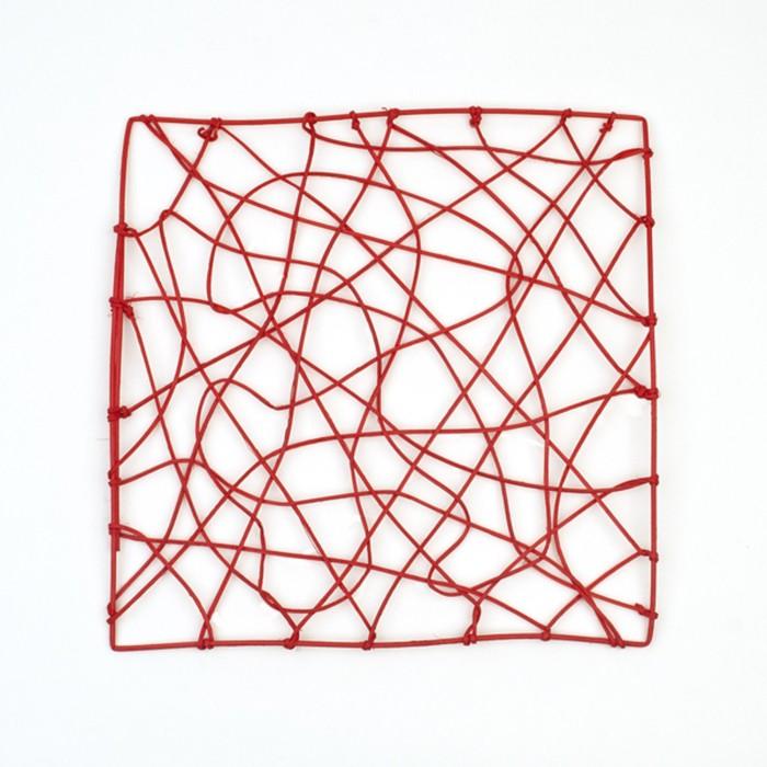 "Каркас ""Рамка"" ротанг, 30 х 30 см, ярко-красный"