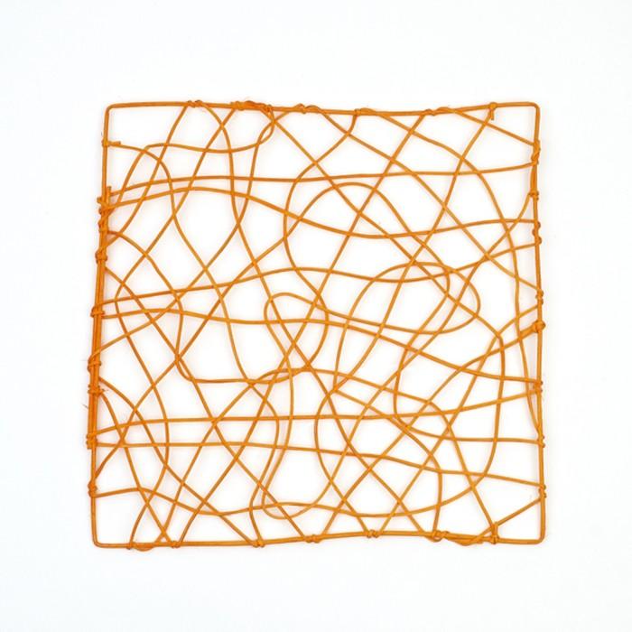 "Каркас ""Рамка"" ротанг, 30 х 30 см, ярко-оранжевый"