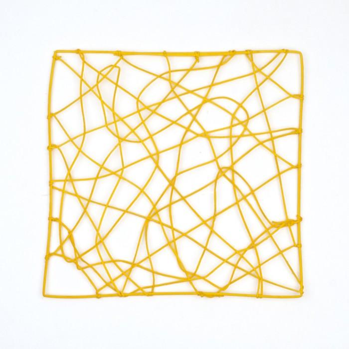"""Каркас """"Рамка"""" ротанг, 30 х 30 см, жёлтый"""