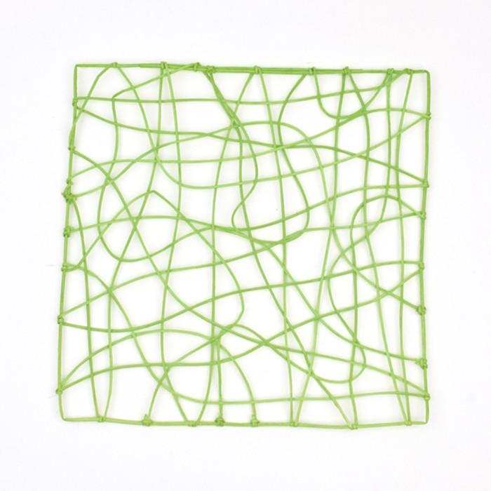 """Каркас """"Рамка"""" ротанг, 30 х 30 см, светло-зелёный"""