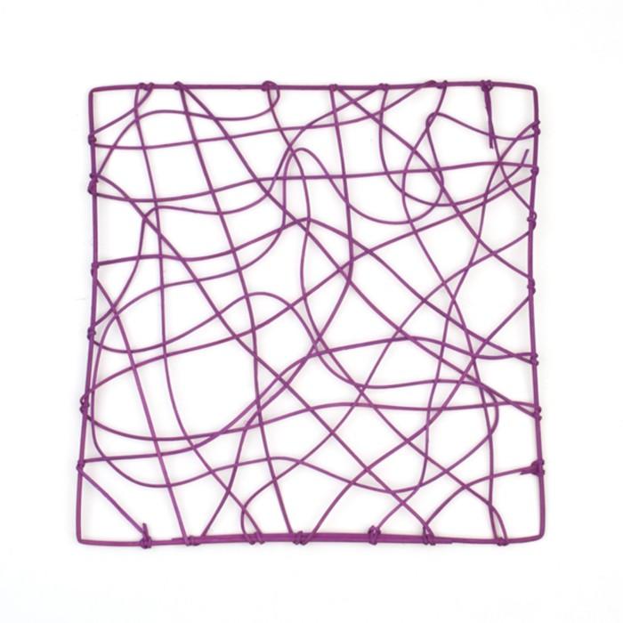 "Каркас ""Рамка"" ротанг, 30 х 30 см, фиолетовый"