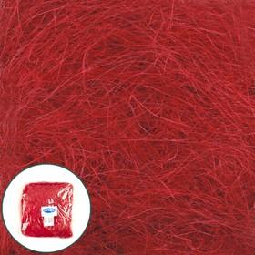 Наполнитель сизаль 100 г, красный