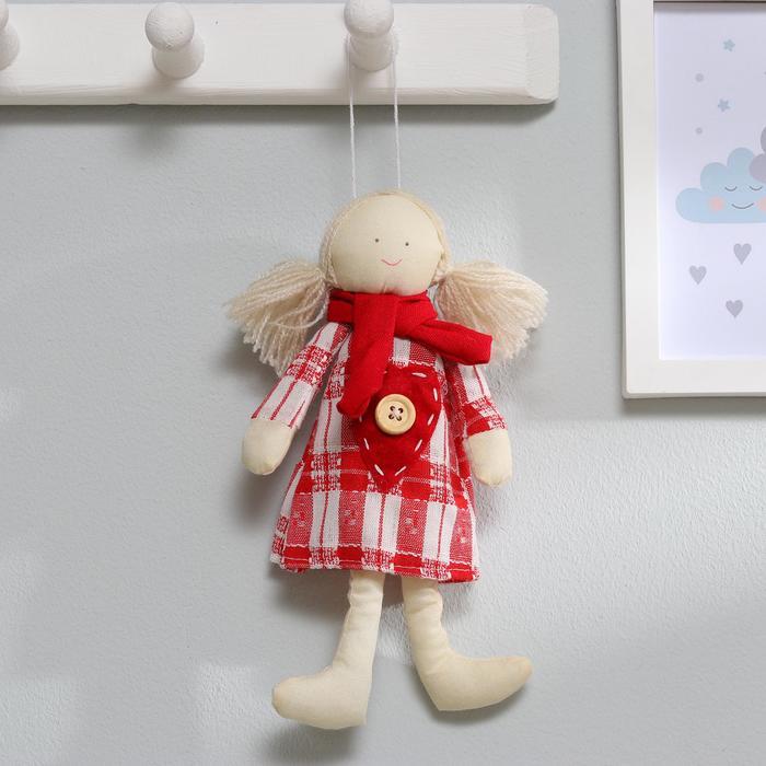 Мягкая игрушка-подвеска кукла «Юля», в шарфике, цвета МИКС