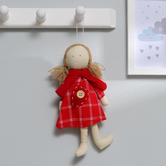 Подвеска «Кукла Ириночка», платье в горошек, цвета МИКС - фото 1061420
