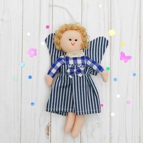 Подвеска «Ангелочек», кукла с крыльями, бантик на платье, цвета МИКС