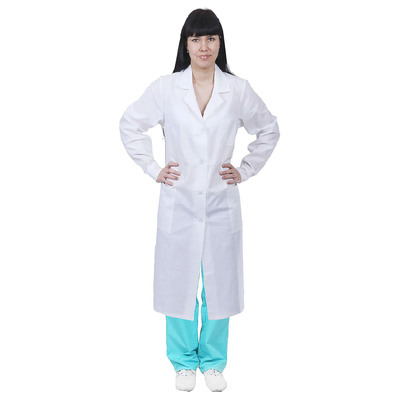 Халат медицинский женский, бязь, ГОСТ, цвет белый, размер 48-50, рост 158-164 см