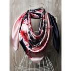 Платок женский, размер  90х90 см, цвет розовый  K0590PL701