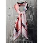Платок женский, размер  70х70 см, цвет розовый  K0570PL121