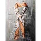 Платок женский, размер  70х70 см, цвет белый  K0570PL125