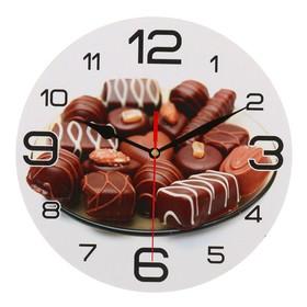 """Часы настенные круглые """"Шоколадные конфеты"""", 24 см  микс"""