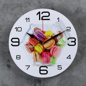 """Часы настенные круглые """"Макаруны"""", 24 см микс"""