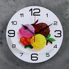 "Wall clock round ""Ice cream with strawberries"", 24cm mix"