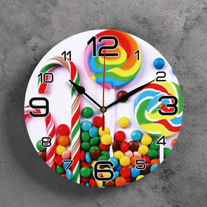 "Часы настенные круглые ""Карамель"", 24 см"