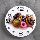 """Wall clock round """"Donuts"""", 24 cm"""