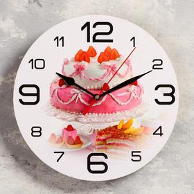 """Часы настенные круглые """"Свадебный торт"""", 24 см"""
