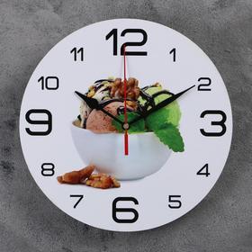 """Часы настенные круглые """"Мороженое с мятой"""", 24 см микс"""