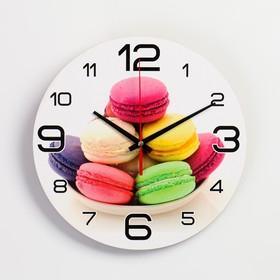 """Часы настенные, серия: Кухня, """"Макаруны"""", 24  см, микс в Донецке"""