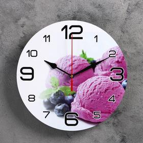 """Часы настенные, серия: Кухня, """"Черничное мороженое"""", 24  см, микс в Донецке"""