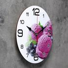 "Wall clock, series: the Kitchen, ""Blueberry ice cream"", 24 cm, mixed"