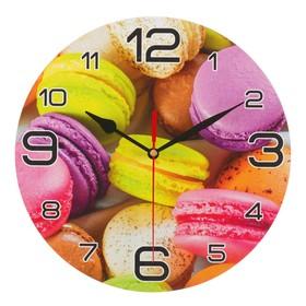 """Часы настенные, серия: Кухня, """"Макаруны"""", 24 см"""