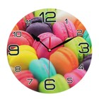 "Wall clock, series: the Kitchen, ""rainbow macaron"", 24 cm"