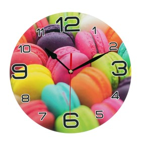 "Wall clock, series: the Kitchen, ""rainbow macaron"", 24 cm"
