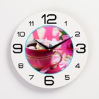 """Wall clock, series: the Kitchen, """"Coffee candy"""", 24 cm"""