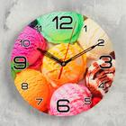 "Wall clock round ""Ice cream rainbow"", 24cm mix"