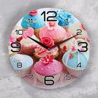 "Wall clock, series: the Kitchen, ""Cupcakes"", 24 cm"
