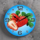"Wall clock round ""Strawberry"", 24cm mix"