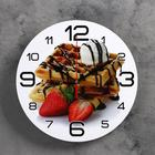 """Wall clock, series: the Kitchen, the """"Viennese waffles and strawberries"""", 24 cm"""
