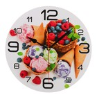 "Wall clock round ""Ice cream and berries"", 24cm mix"