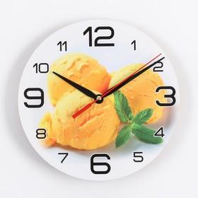 """Часы настенные, серия: Кухня, """"Мороженое с мятой"""", 24 см, стрелки микс в Донецке"""