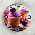 "Wall clock round ""Ice cream and cherry"", 24cm mix"