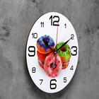 "Wall clock, series: the Kitchen, ""Donuts"", 24 cm, mix"