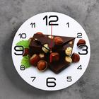 "Wall clock, series: the Kitchen, ""Chocolate with hazelnut"", 24 cm, mix"