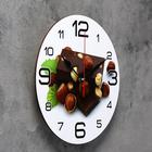 "Wall clock, series: the Kitchen, ""Chocolate with hazelnut"", 24 cm, mix"