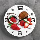 """Wall clock round """"Coconut and strawberry"""", 24cm mix"""