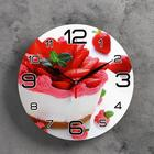 "Wall clock round ""Strawberry cake"", 24 cm"