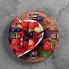 """Wall clock, series: the Kitchen, """"Berry love"""", 24 cm"""